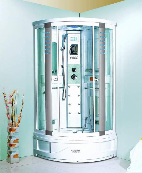 Душевая кабина для ванной комнаты в голубых тонах