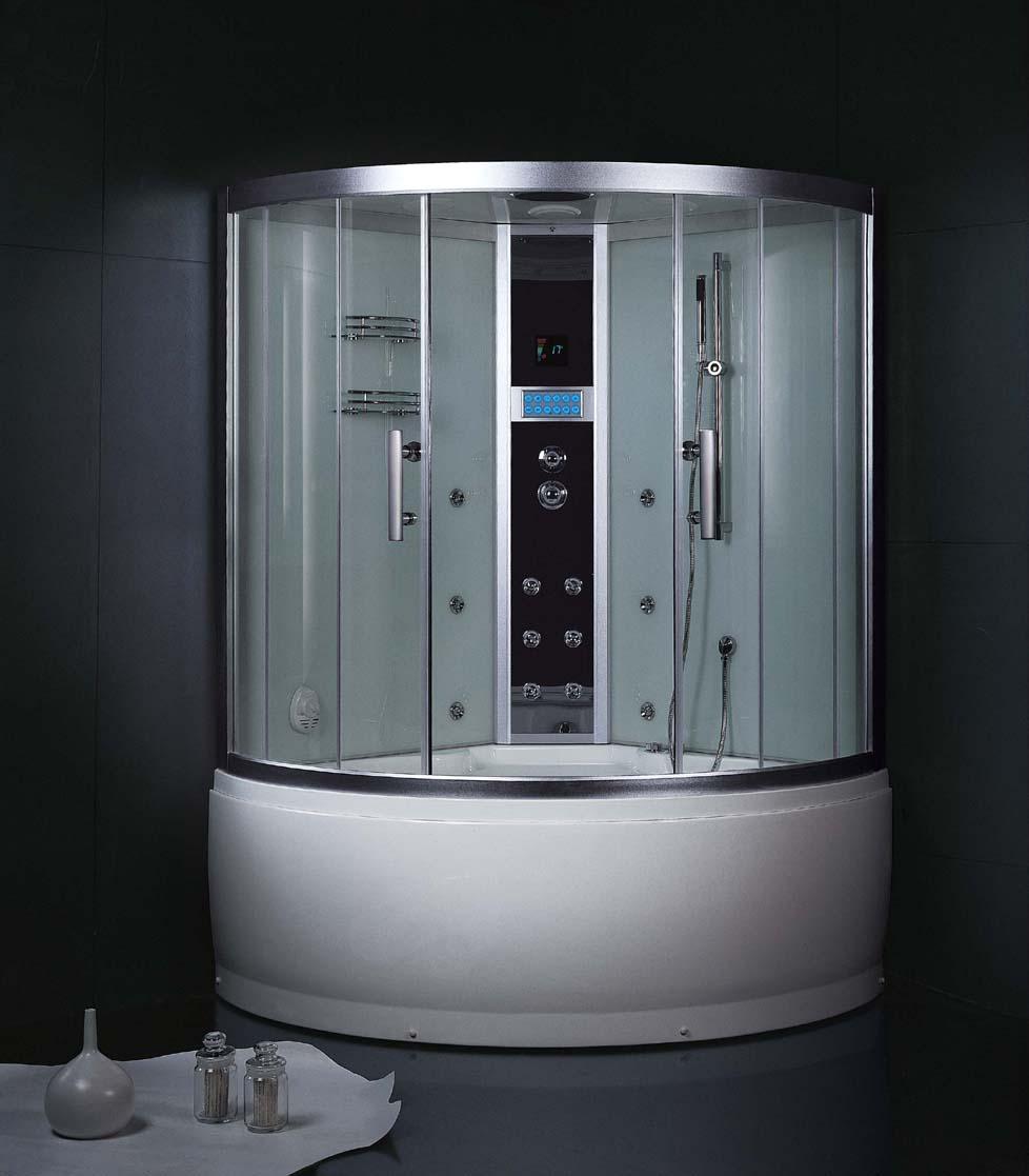 Душевая кабина для темной ванной комнаты