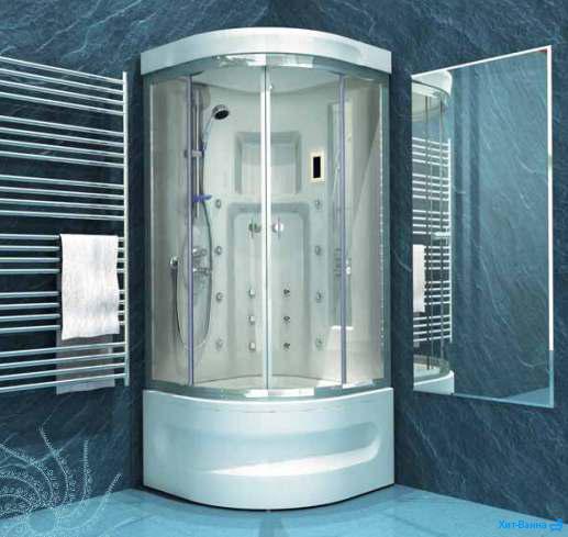Душевая кабина для серой ванной комнаты