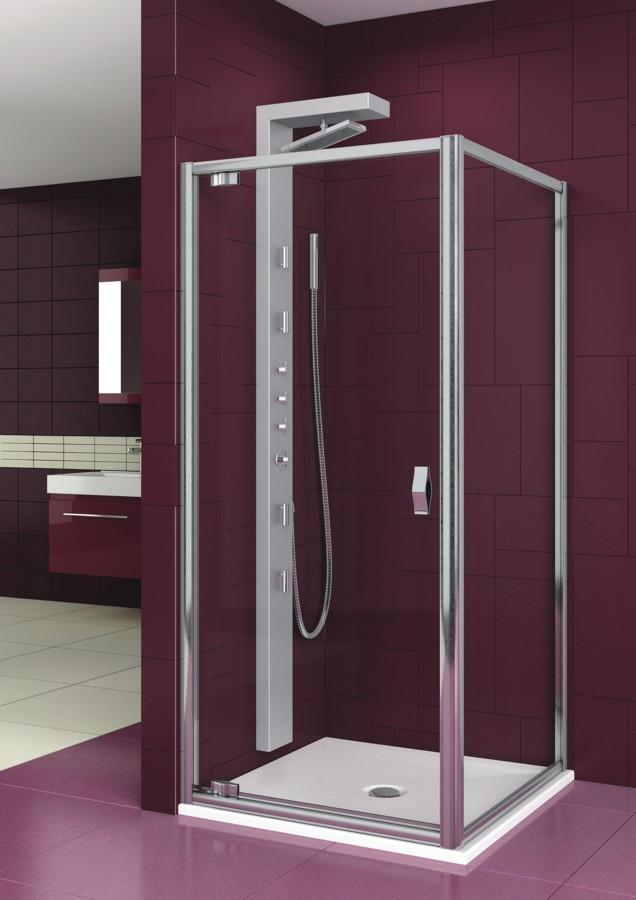 Ванная комната бордового цвета с душем