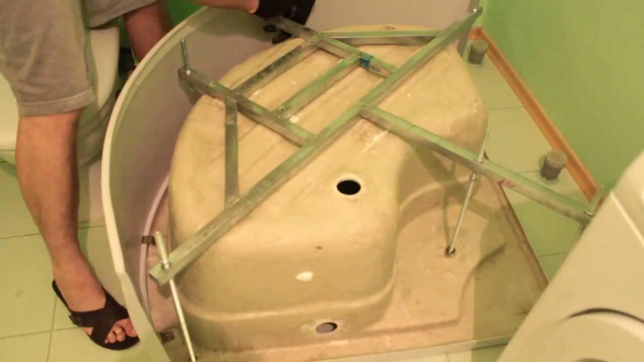 Ремонт в зеленой ванной комнате
