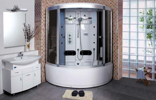 Закрытый тип кабины для ванной комнаты