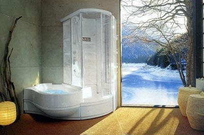 Совмещенная ванна с душевой кабиной