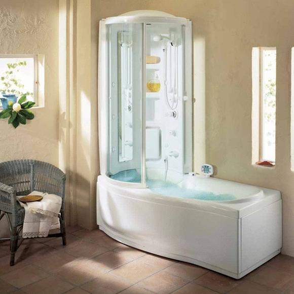 Ванная комната бежевого цвета