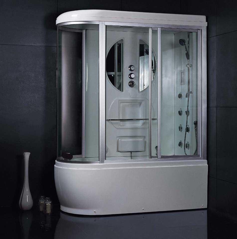 Ванная комната, оформленная керамической плиткой серого цвета