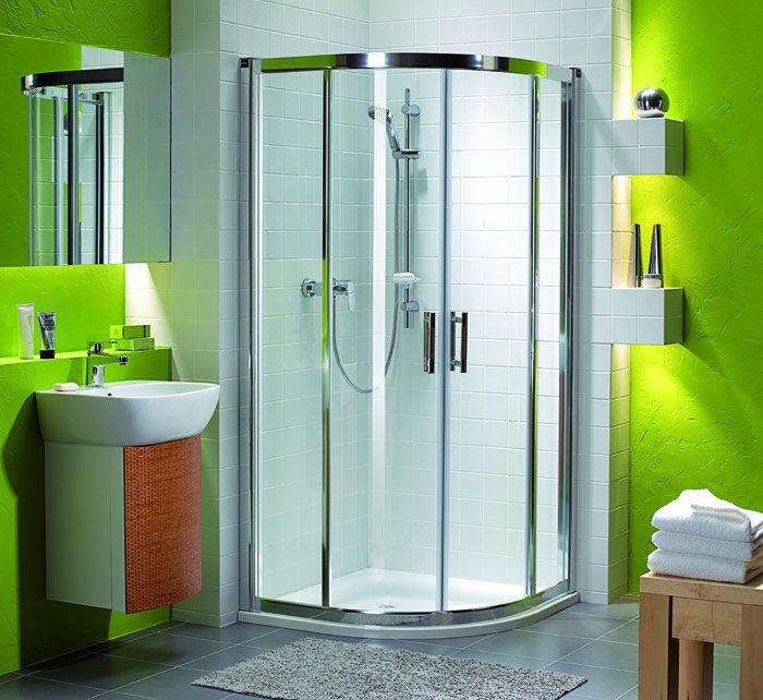 Ванная комната ярко-зеленого цвета