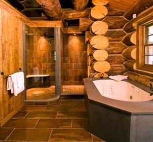 Ванна для дома из цельных бревен