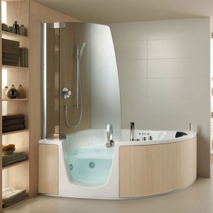Ванна, совмещенная с душевой кабиной